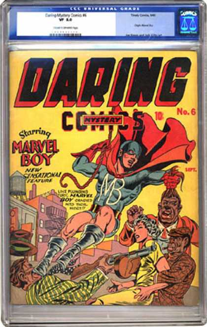 CGC Graded Comics - Daring Mystery Comics #6 (CGC) - Marvel Boy - Daring Mystery - Villians - Monsters - Woman Hostage