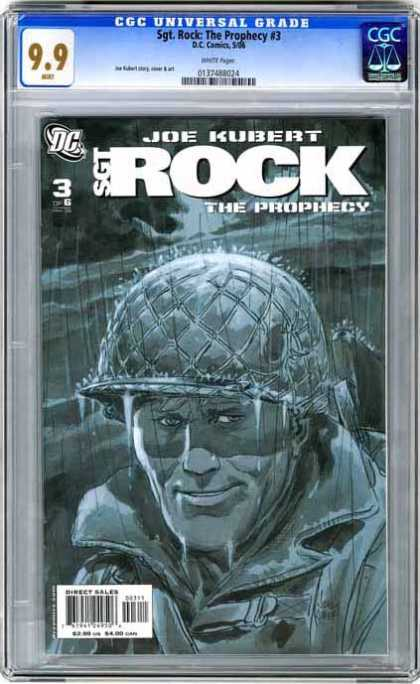 CGC Graded Comics - Sgt. Rock: The Prophecy #3 (CGC) - Joe Kubert - Sgt Rock - The Prohecy - Helmet - Military