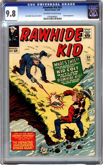 CGC Graded Comics - Rawhide Kid #50 (CGC) - Rawhide - Kid Colt - Cowboys - Shoot - Gun