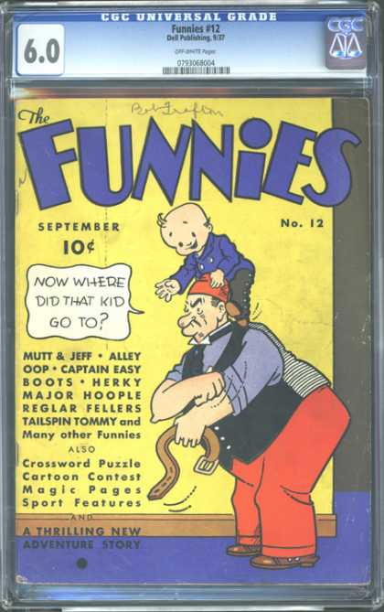 CGC Graded Comics - Funnies #12 (CGC) - Kid - Boots - Alley Oop - Mutt - Jeff