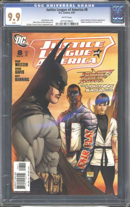 CGC Graded Comics - Justice League of America #8 (CGC) - Batman - Fair Play - Justice League - Black Belt - Mask