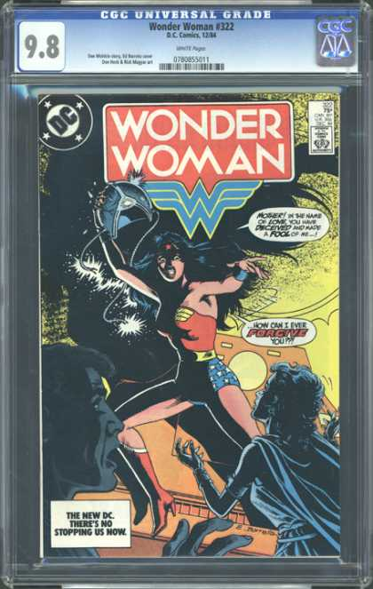 CGC Graded Comics - Wonder Woman #322 (CGC) - Cgc Hologram - Wonder Women - Dc - Shadow - Anger