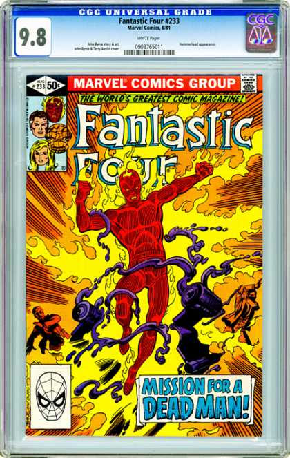 CGC Graded Comics - Fantastic Four #233 (CGC) - 98 - Fantastic Four 233 - The Worlds Greatest Comic Magazine - Mission For A Dead Man - 50c