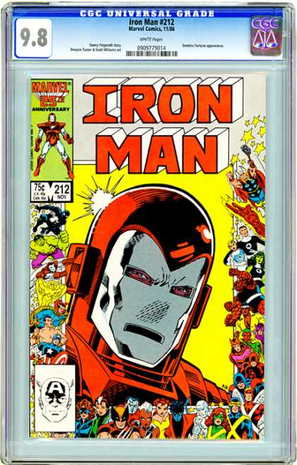 CGC Graded Comics - Iron Man #212 (CGC)