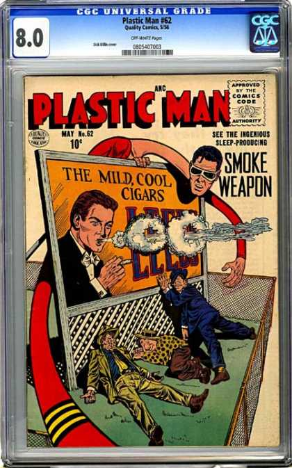 CGC Graded Comics - Plastic Man #62 (CGC) - Plastic Man - Billboard - Smoke Weapon - Sleeping Time - Smoke