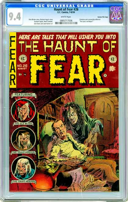 CGC Graded Comics - Haunt of Fear #26 (CGC) - The Old Witch - The Vault Keeper - The Crypt Keeper - Man - Fear