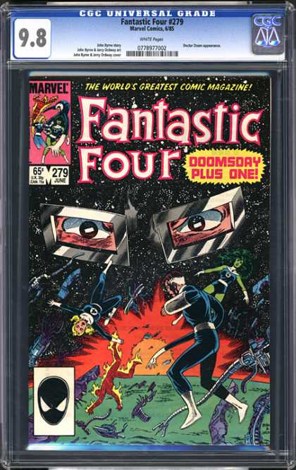 CGC Graded Comics - Fantastic Four #279 (CGC) - Doctor Doom - Fireman - Elasticman - Envisiblewoman - Thing