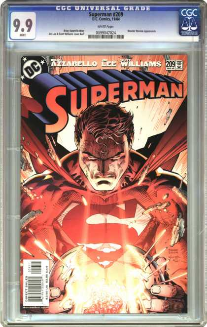 CGC Graded Comics - Superman #209 (CGC) - Superman - Dc - Azzarello Lee Williams - Powerball - Energy
