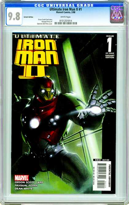 CGC Graded Comics - Ultimate Iron Man II #1 (CGC) - Iron Man - Superhero - Marvel - Parental Advisory - Orson Scott Card