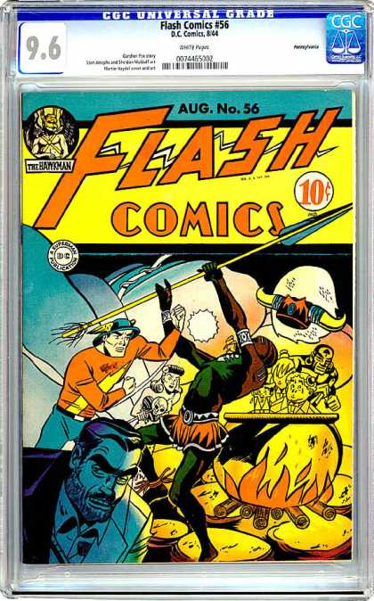 CGC Graded Comics - Flash Comics #56 (CGC) - Spear - Mystery - Children - Hero - Rescue