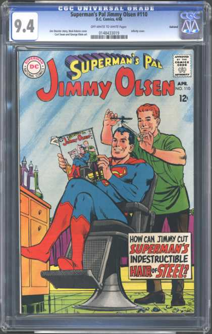 CGC Graded Comics - Superman's Pal Jimmy Olsen #110 (CGC) - Superman - Approved By The Comics Code - Man - Superman National Comics - Book