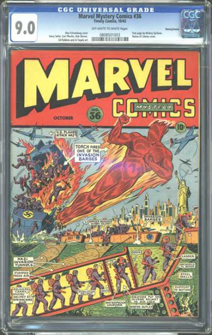 CGC Graded Comics - Marvel Mystery Comics #36 (CGC)