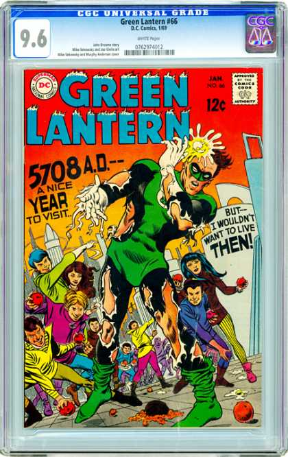 CGC Graded Comics - Green Lantern #66 (CGC) - 96 - 5708ad - Superman - Ball - Super Women