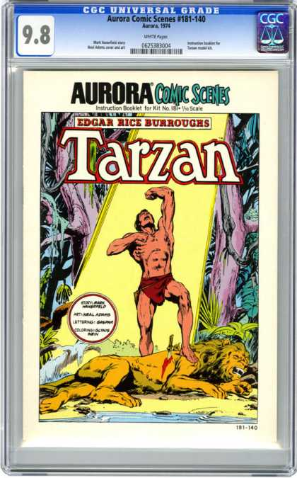 CGC Graded Comics - Aurora Comic Scenes #181-140 (CGC) - Jungle - Dead Lion - Tarzan - Blood - Knife