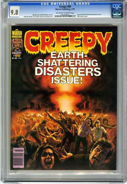 CGC Graded Comics - Creepy #99 (CGC) - Creepy - Earth Shattering - Disasters - Panic - Crowd