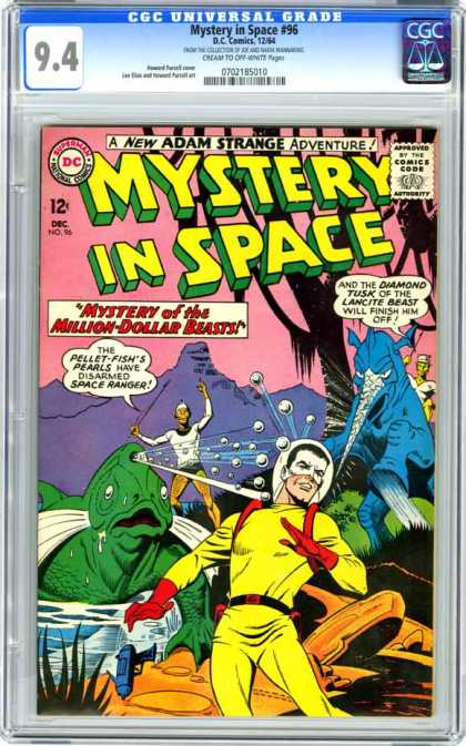 CGC Graded Comics - Mystery in Space #96 (CGC) - Lancite Beast - Pellet-fishs Pearls - Space Ranger - Ray Gun - Adam Strange
