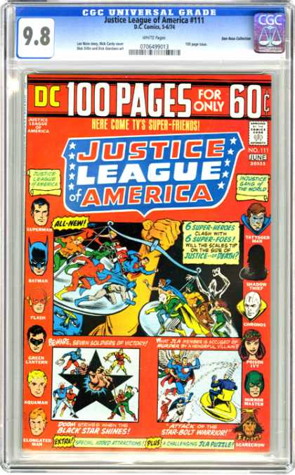 CGC Graded Comics - Justice League of America #111 (CGC) - Justice League Of America - Dc Comics - 100 Pages - Approved By The Comics Code Authority - Batman