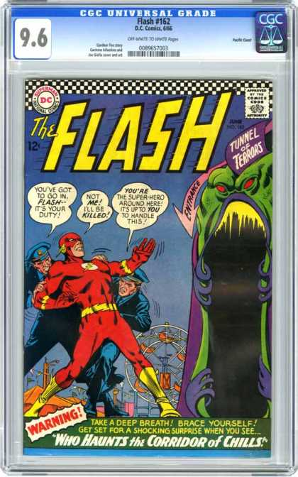 CGC Graded Comics - Flash #162 (CGC) - Entrance - Amusement Park - Tunnel - Terrors - Frightening