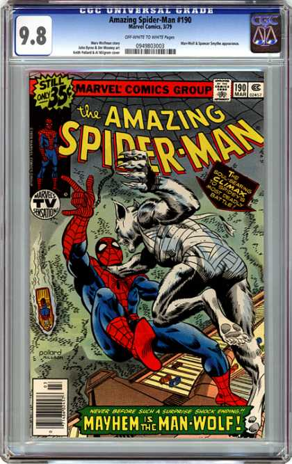 CGC Graded Comics - Amazing Spider-Man #190 (CGC) - Werewolf - Best Comic Hero - Deadly Battle - Best Comic Series - Werewolf Vs Spider-man