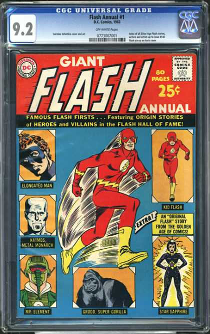 CGC Graded Comics - Flash Annual #1 (CGC) - Elongated Man - Kid Flash - Grood - Katmos - Mr Element