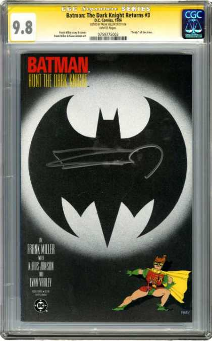 CGC Graded Comics - Batman: The Dark Knight Returns #3 (CGC) - Cgc - Dc - Dc Comics - Batman - The Dark Knight