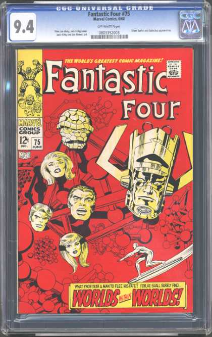 CGC Graded Comics - Fantastic Four #75 (CGC) - Thing - Mr Fantastic - Silver Surfer - Worlds Within Worlds - Red
