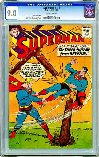 CGC Graded Comics - Superman #134 (CGC) - Top Selling Comics - Supermen - Clone - Copycat - Supervillain
