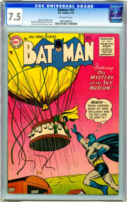 CGC Graded Comics - Batman #94 (CGC) - Dc Comics - Bat Man - The Mystery Of The Sky Museum - Robin - Hot Air Ballon