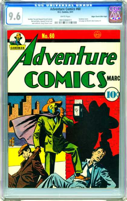 CGC Graded Comics - Adventure Comics #60 (CGC) - Adventure Comics - Green Man - Telephone Call - Two Men Injured - City