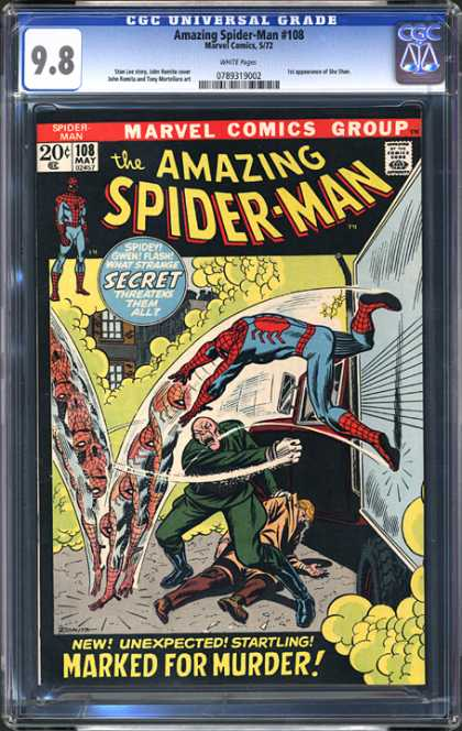 CGC Graded Comics - Amazing Spider-Man #108 (CGC) - Spiderman - Villian - Wall - Window - Fist