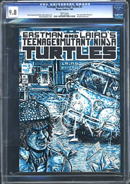 CGC Graded Comics - Teenage Mutant Ninja Turtles #3 (CGC) - Eastman - Laird - Teemage Mutant Ninja Turtles - Vehicle - No3