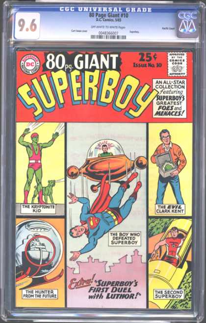 CGC Graded Comics - 80 Page Giant #10 (CGC) - Superboy - 80 Pg Giant - Superman - Comics Code - Menaces