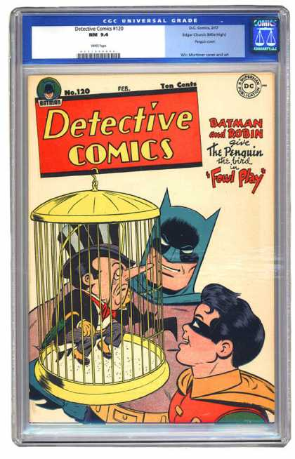 CGC Graded Comics - Detective Comics #120 (CGC) - Batman - Robin - The Penguin - Bird Cage - Foul Play