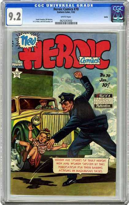CGC Graded Comics - Heroic Comics #70 (CGC) - Cgc Hologram - Police Officer - Truck - Little Girl - Rescued