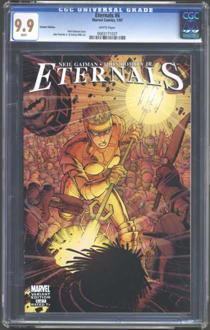 CGC Graded Comics - Eternals #6 (CGC) - Neil Gaiman - Marvel Variant Edition - Gold Staff - Yellow Hair - Lady