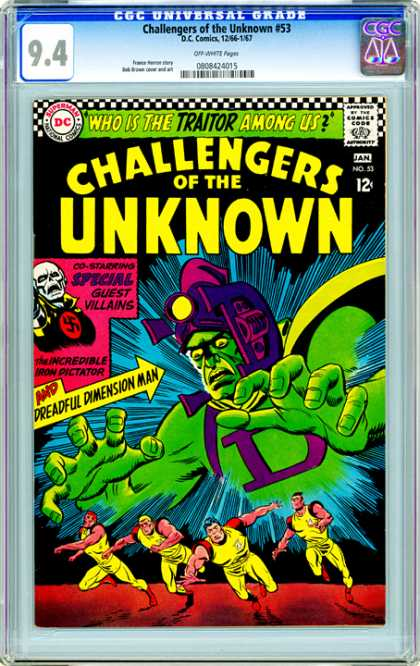 CGC Graded Comics - Challengers of the Unknown #53 (CGC)