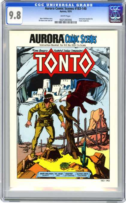 CGC Graded Comics - Aurora Comic Scenes #183-140 (CGC) - Tonto - Aurora Comic Series 1974 - The Lone Ranger - Bald Eagle - Desert