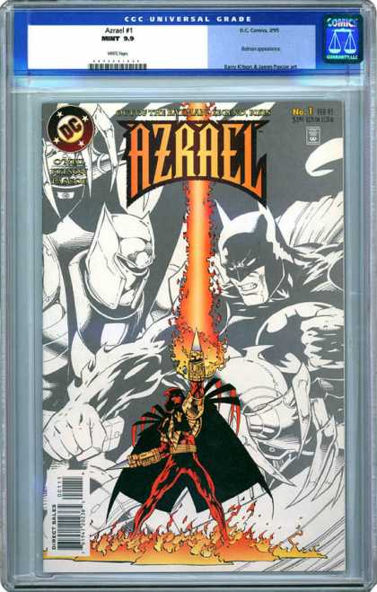 CGC Graded Comics - Azrael #1 (CGC) - Azrael - Batman - Dc - Fire - No 1
