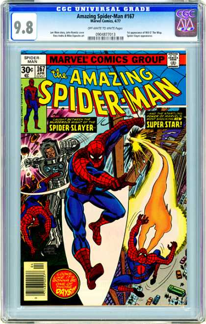 CGC Graded Comics - Amazing Spider-Man #167 (CGC) - Spiderman - Marvel - Spider Slayer - Super Star - Battle