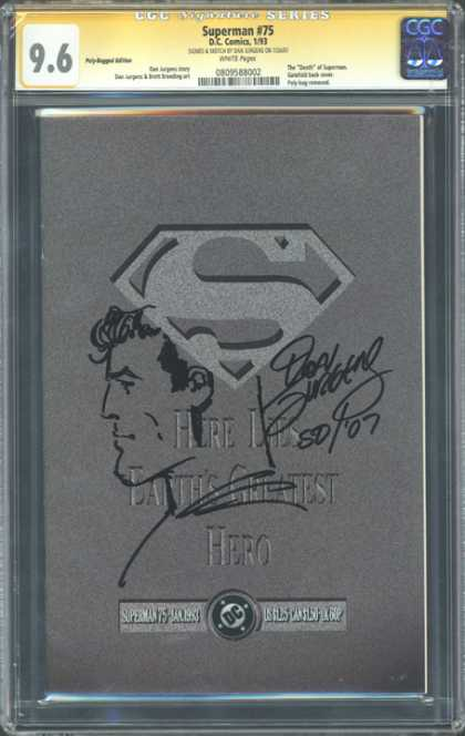 CGC Graded Comics - Superman #75 (CGC)