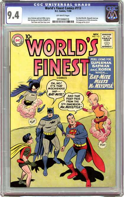 CGC Graded Comics - World's Finest Comics #113 (CGC) - Superman - Batman - Robin - Bat-mite - Worlds Finest Comics