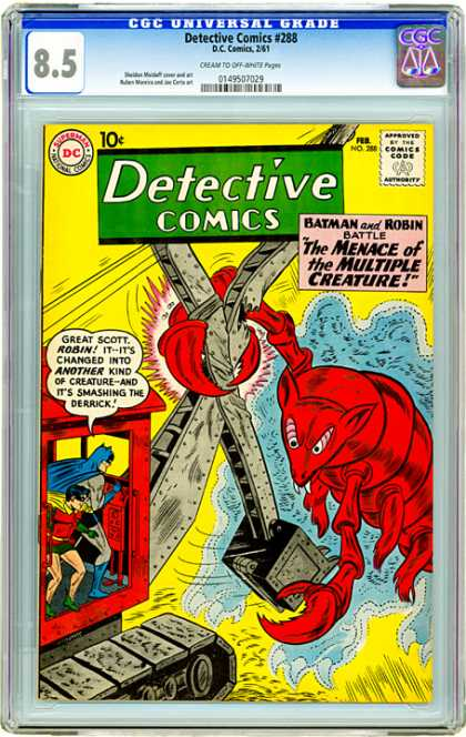 CGC Graded Comics - Detective Comics #288 (CGC) - Detective Comics - Meance Of The Muliple Creature - Batman - Robin - Crane