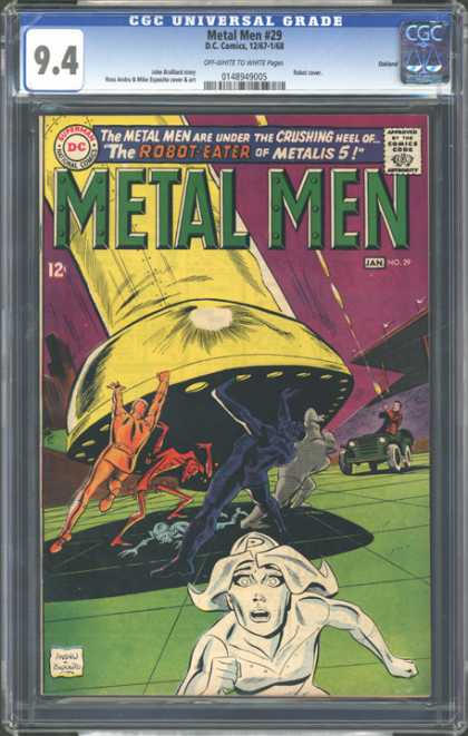 CGC Graded Comics - Metal Men #29 (CGC) - Metal Man - The Robot Eater Of Metalis 5 - Huge Foot - Jeep - Robots