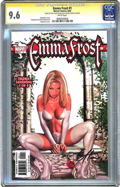 CGC Graded Comics - Emma Frost #1 (CGC) - Emma Frost - Marvel - Higer Learning 1 Of 6 - Rose - Eh