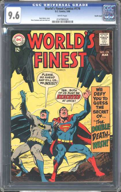 CGC Graded Comics - World's Finest Comics #174 (CGC) - Guns - Batman - Robin - Maks - Capes