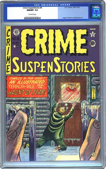 CGC Graded Comics - Crime SuspenStories #8 (CGC) - Killer Or God - The Suspicious Man - Man Behind The Window - Will U Help Me - Innocent Killing By Window Killer