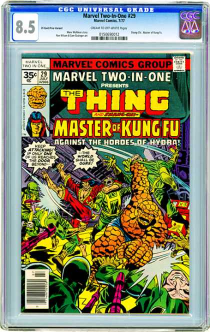 CGC Graded Comics - Marvel Two-In-One #29 (CGC) - Marvel Two-in-one - The Thing - Master Of Kung Fu - Battle - Against The Hordes Of Hydra