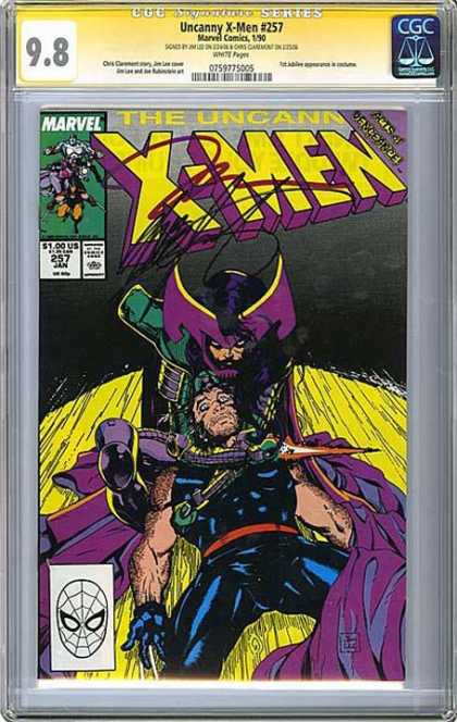 CGC Graded Comics - Uncanny X-Men #257 (CGC) - Wolverine - Overpowering - Ninja - Fight To The Death - Sword Fight