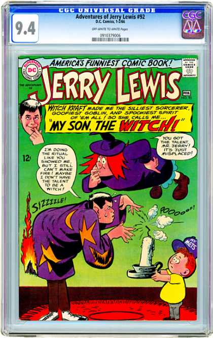 CGC Graded Comics - Adventures of Jerry Lewis #92 (CGC)