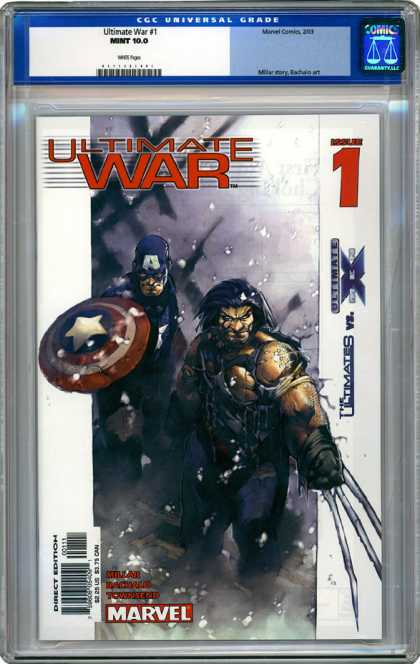 CGC Graded Comics - Ultimate War #1 (CGC) - Scales - Snow - Shield - Marvel - Star